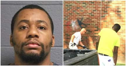 Self-hate?! Black man, 29, is charged with scrawling racist anti-Black graffiti on university wall