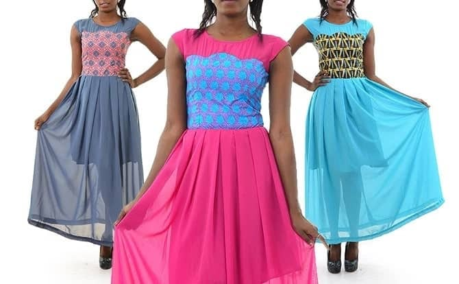 kitenge dresses with chiffon designs