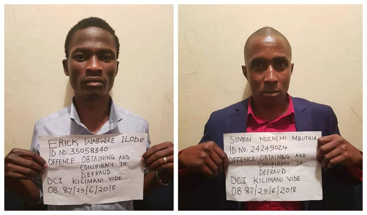 Two fake Nairobi car dealers caught in the act after months of conning Kenyans