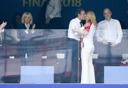 France and Croatia presidents steal show at World Cup final with their public display of affection