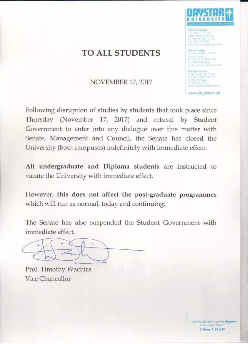 First private university shut as student unrest in the country boils over