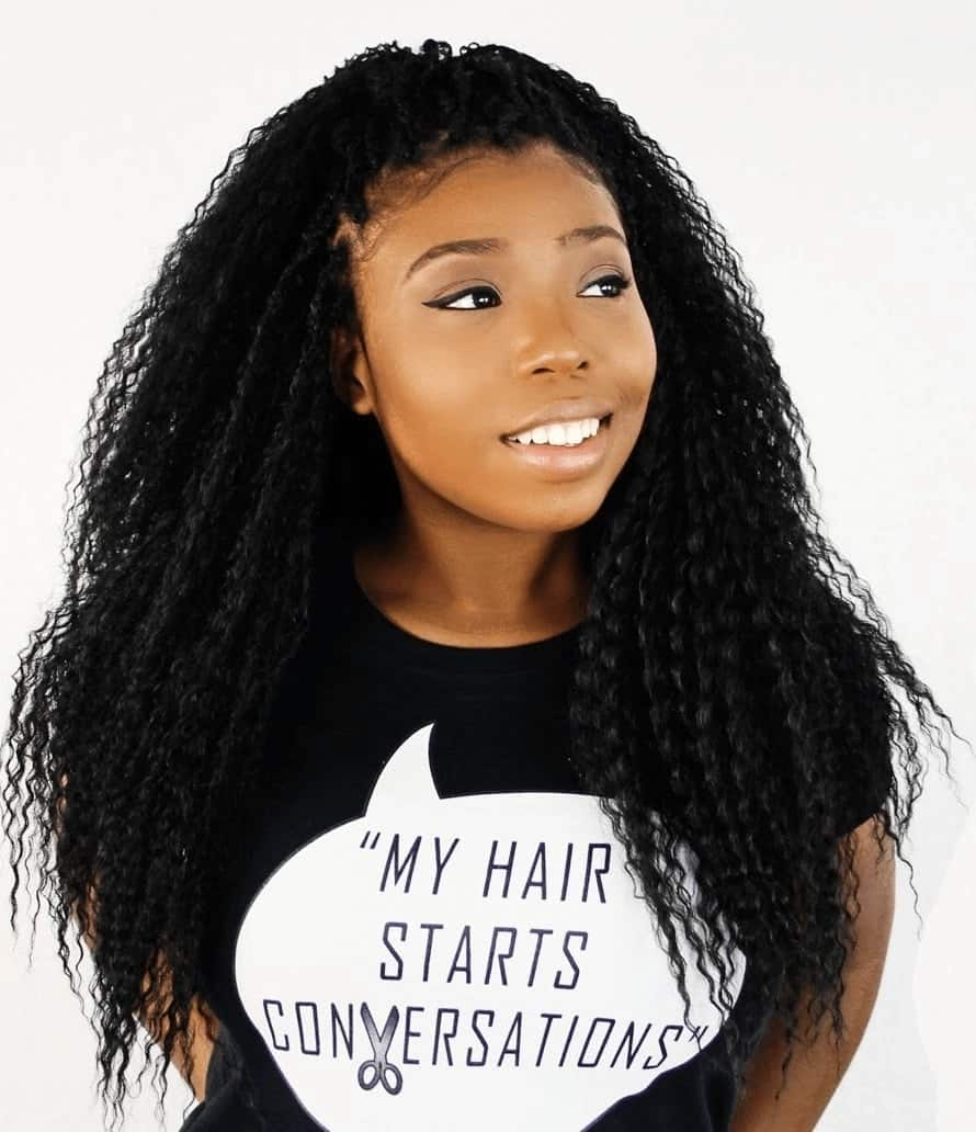 Curly braids hairstyles