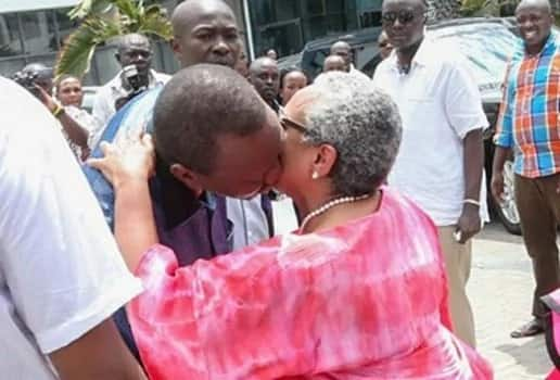 I met Margaret when I was out swimming with my dad- Uhuru gushes over his wife