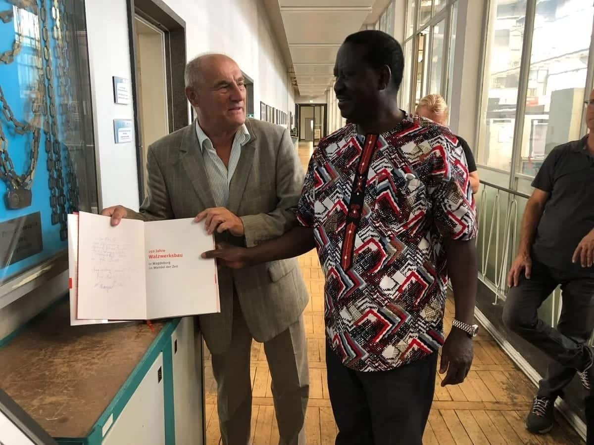 Raila silencers critics of his academic credentials by visiting his former school in Germany