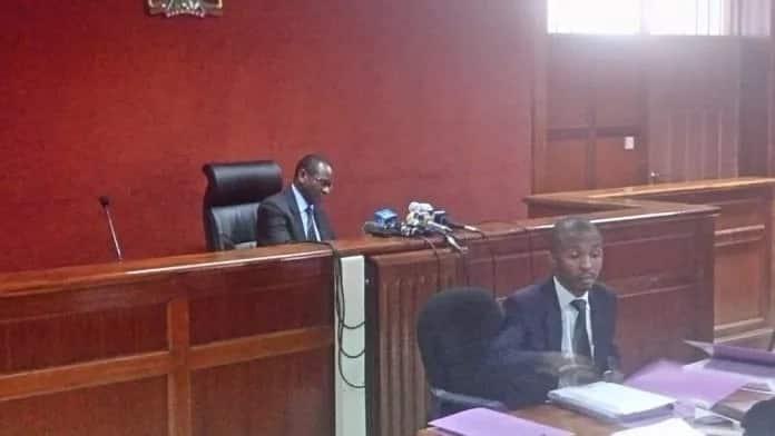 High Court judge Chacha Mwita ruling on Miguna Miguna petition on Saturday, April 7, 2018.