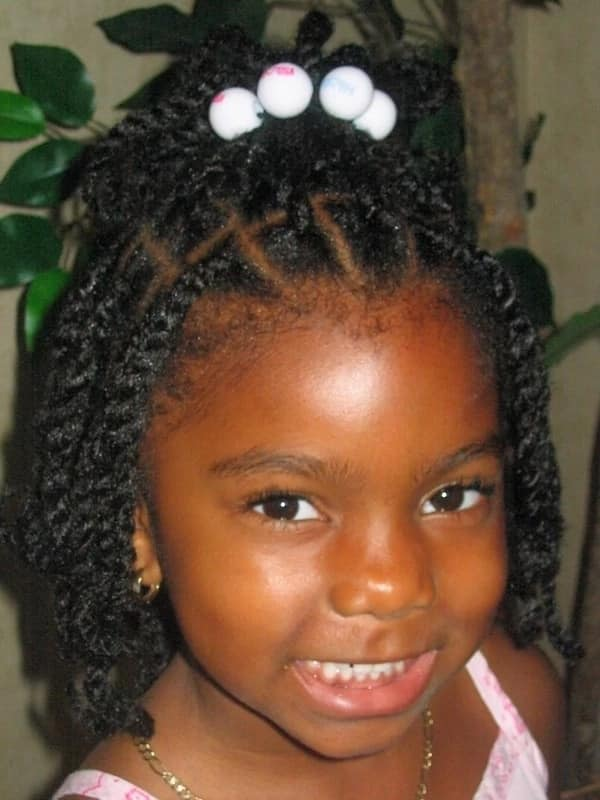 Twist box braids for kids
