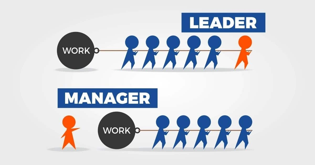 Difference between leadership and management, leadership vs management, leadership and management difference