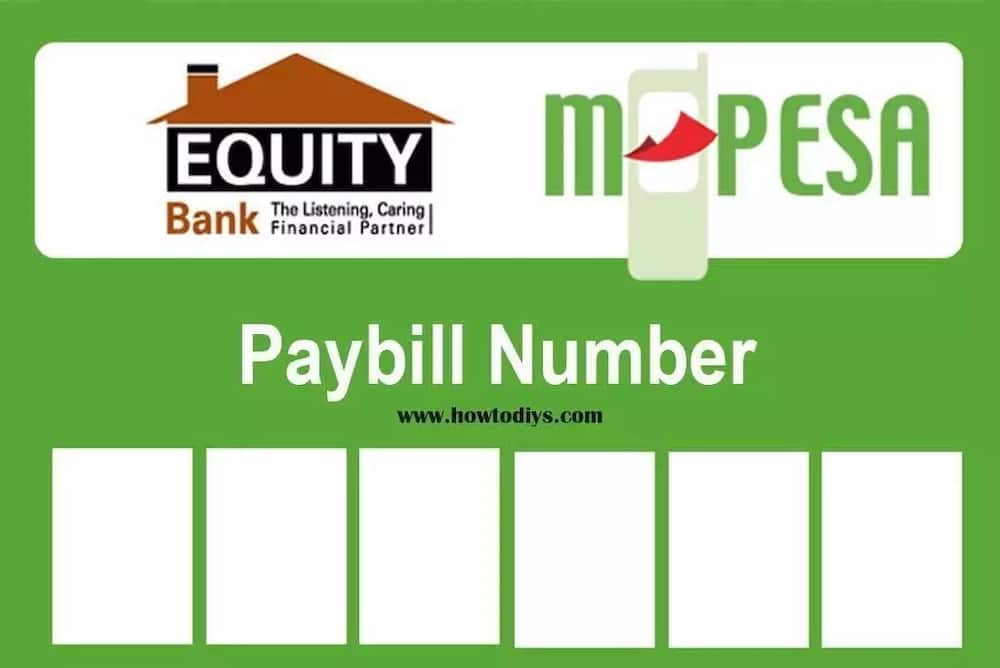 Equity bank Mpesa paybill number ▷ Tuko co ke