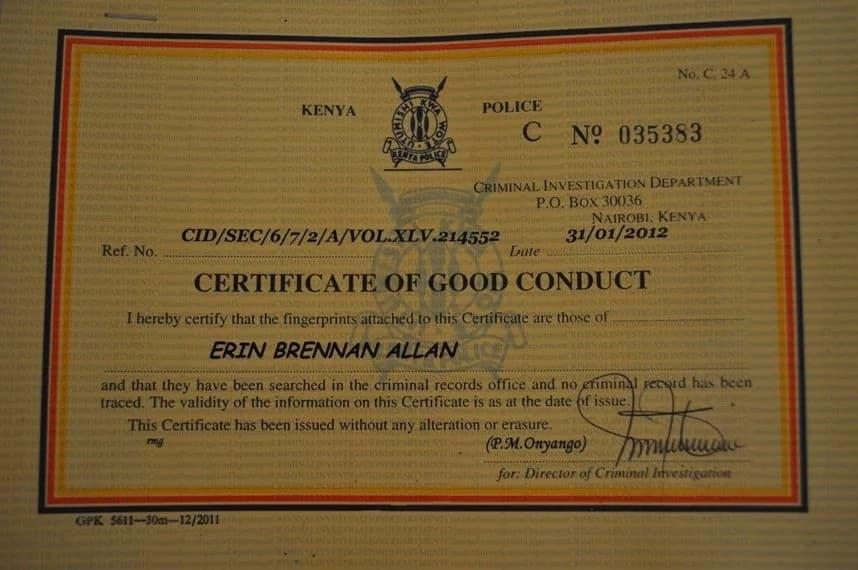eCitizen good conduct