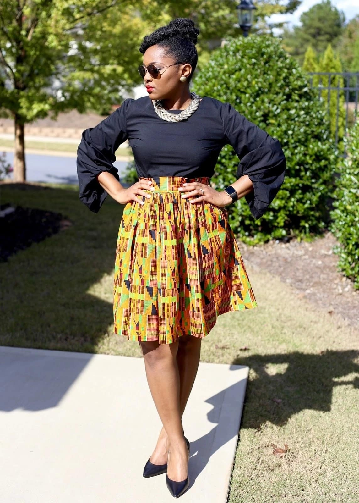 African print gathered skirts, african print skirts kenya, african print skirts