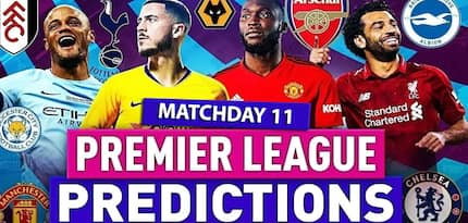 English Premier League predictions for matchday 11