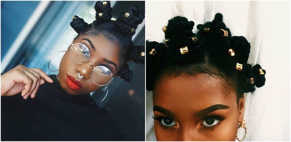 20 beautiful bantu knots hairstyles on short hair