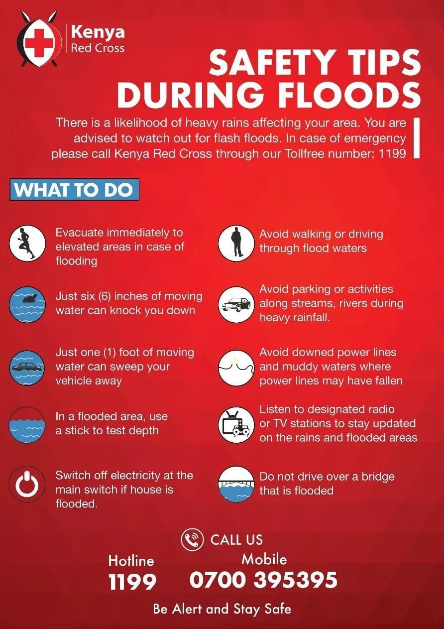 10 must-follow steps incase of flooding in your area as developed by Res Cross