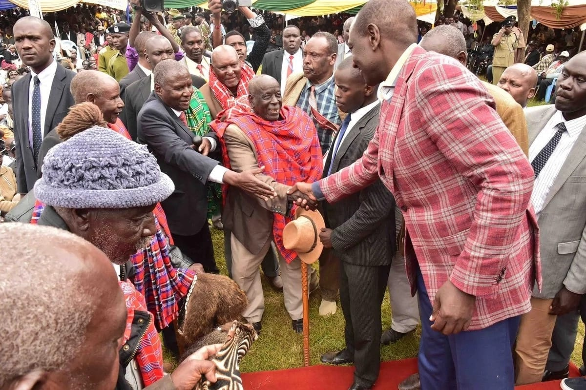 Brave woman carrying child fights security to get DP Ruto's attention