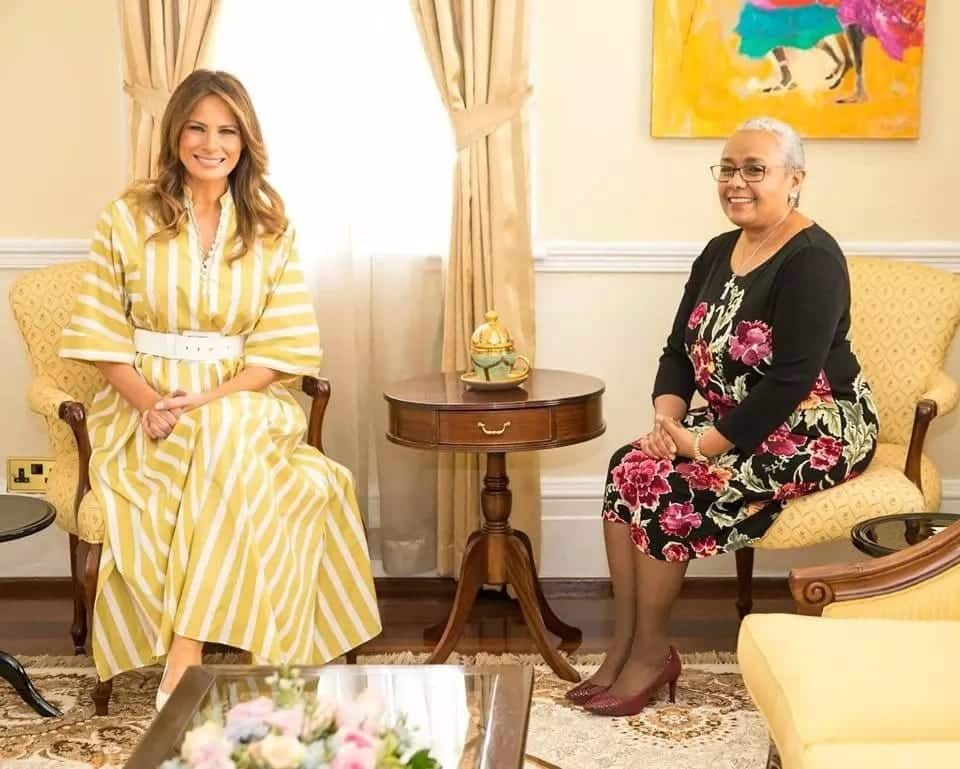 Picha zote za mkewe Rais Donald Trump, Melania akizuru Kenya
