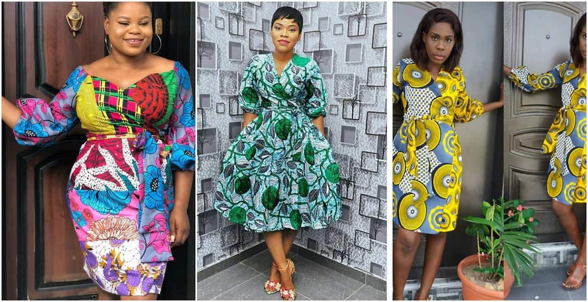 Chiffon dresses with African print African print maxi dresses African print short formal dresses The latest African print dresses African print maternity dresses for work