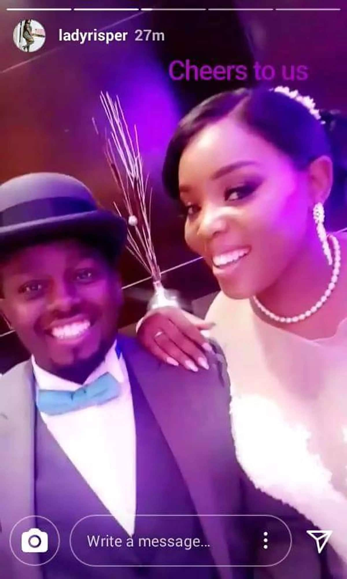 Photos from Socialite Risper Faith wedding to her rich hubby, Brian