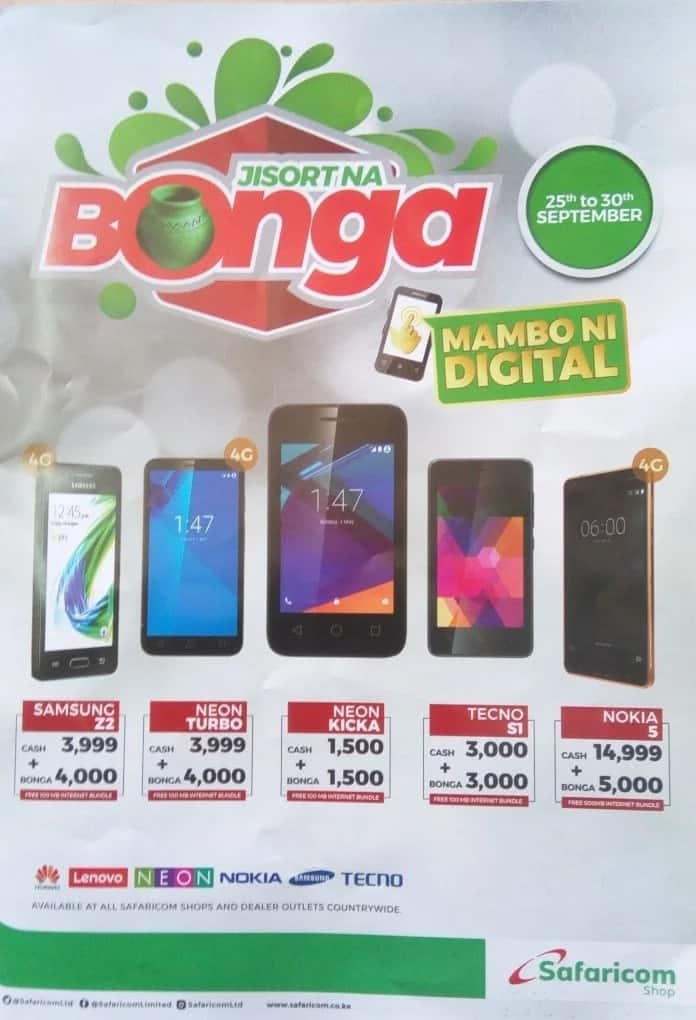 Safaricom Shop Bonga Points Plus Cash