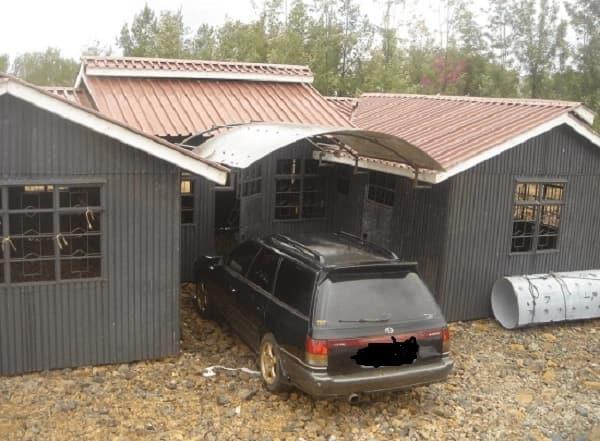 Mabati houses in Kenya