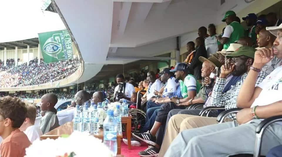 Sakaja warms hearts by taking disabled adopted son to watch Gor Mahia - Hull city game
