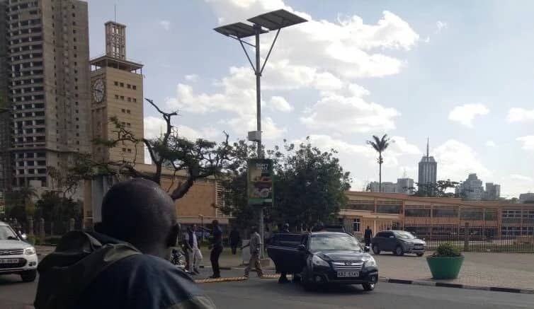 Babu Owino arrested outside Parliament buildings