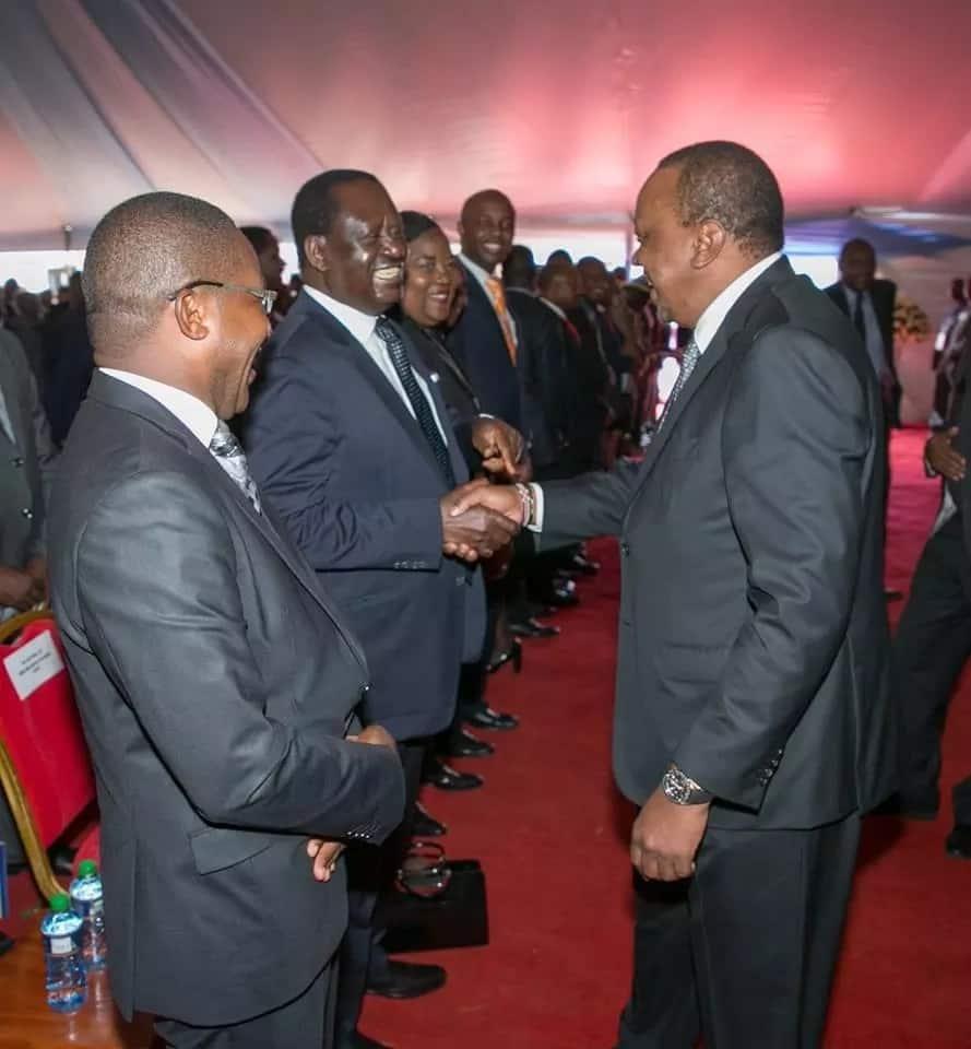 Uhuru slamms those opposed to the handshake between him and Raila