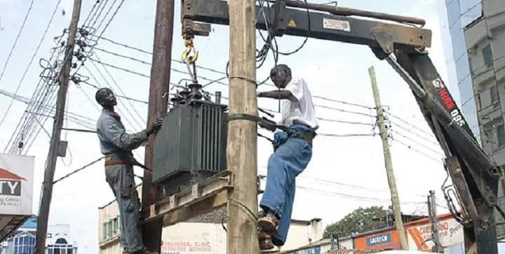 Kenya Power technicians. Photo: Kenya Power.