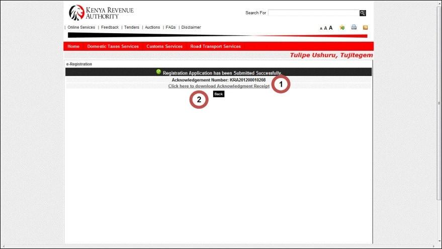 Kra pin registration for students