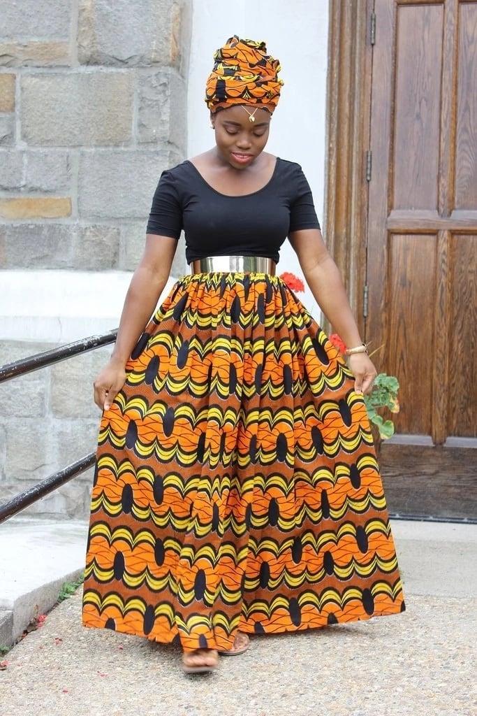 Kitenge designs for long skirts