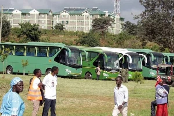 The New NYS buses that were recently deployed in Nairobi