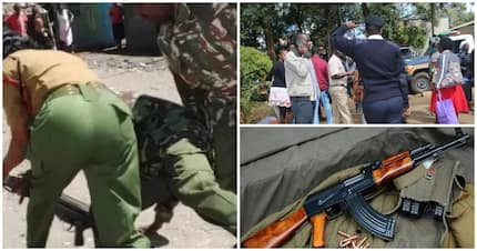 Narrow escape for Eldoret police officer after thug snatches her gun, fails to shoot her
