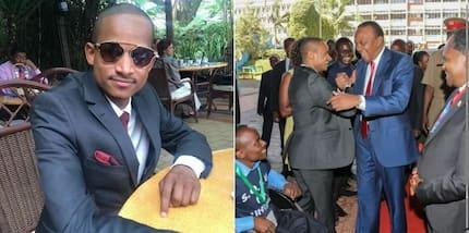 'Drama' bungeni Babu Owino akiridhiana na Uhuru Kenyatta