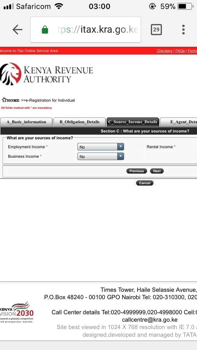 KRA pin application procedure- Step 5