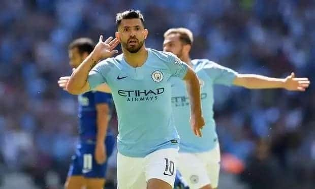 Sergio Aguero on fire as Man City demolish Chelsea to lift the Community Shield