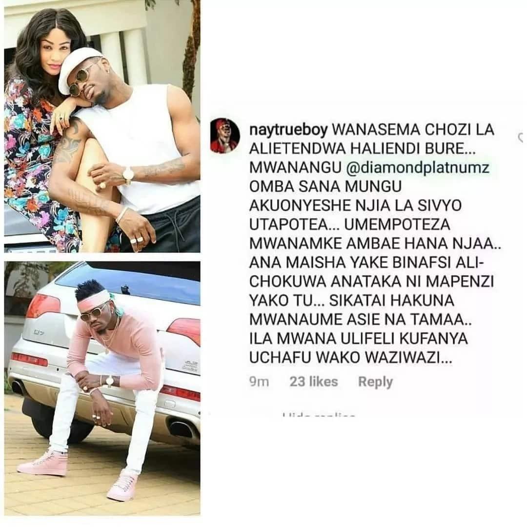 Utajutia kutengana na Zari - rapa wa Bongo Nay Mitego amweleza Diamond