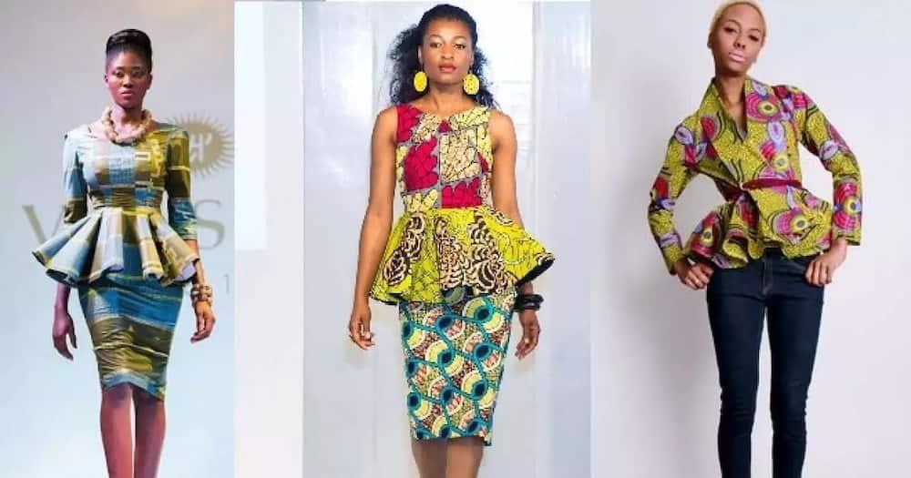 Trendy Ankara tops for ladies