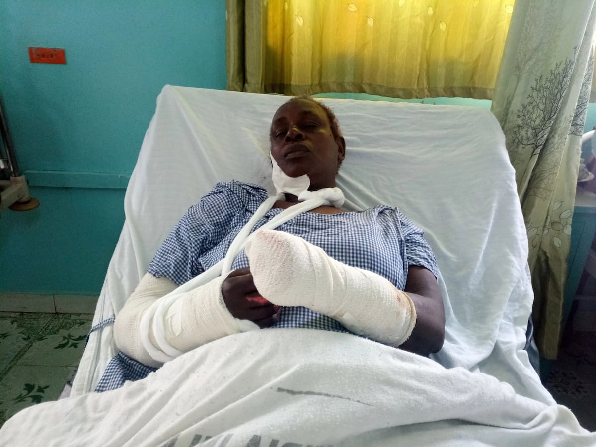 Murang'a man slashes mother to near death after demanding unga from her