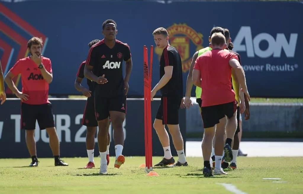 Anthony Martial returns to Manchester United's training camp ahead of EPL opener