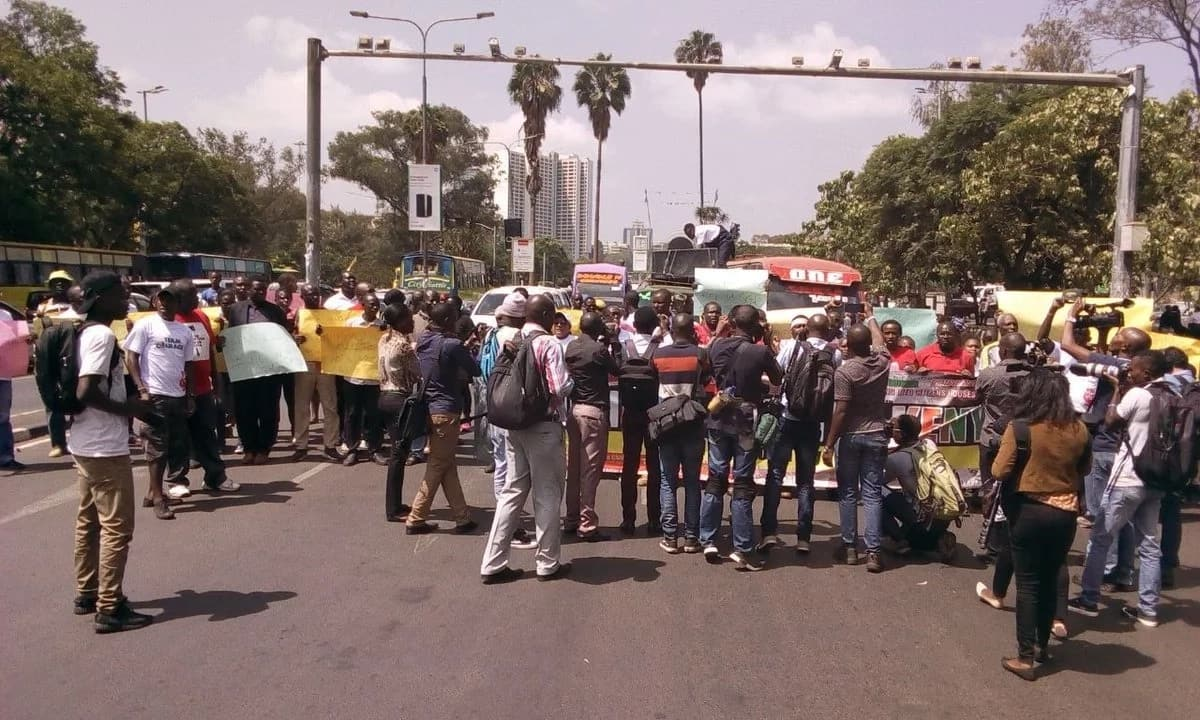 Police teargas protesters demanding Matiang'i to restore TV signals