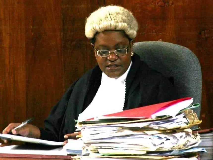 High Court Judge Abida Ali Aroni listening to a case
