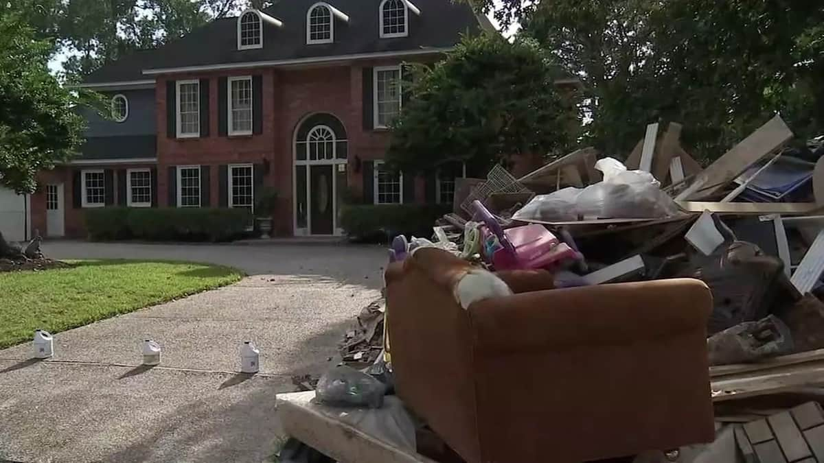 The aftermath of the floods. Photo: ABC13