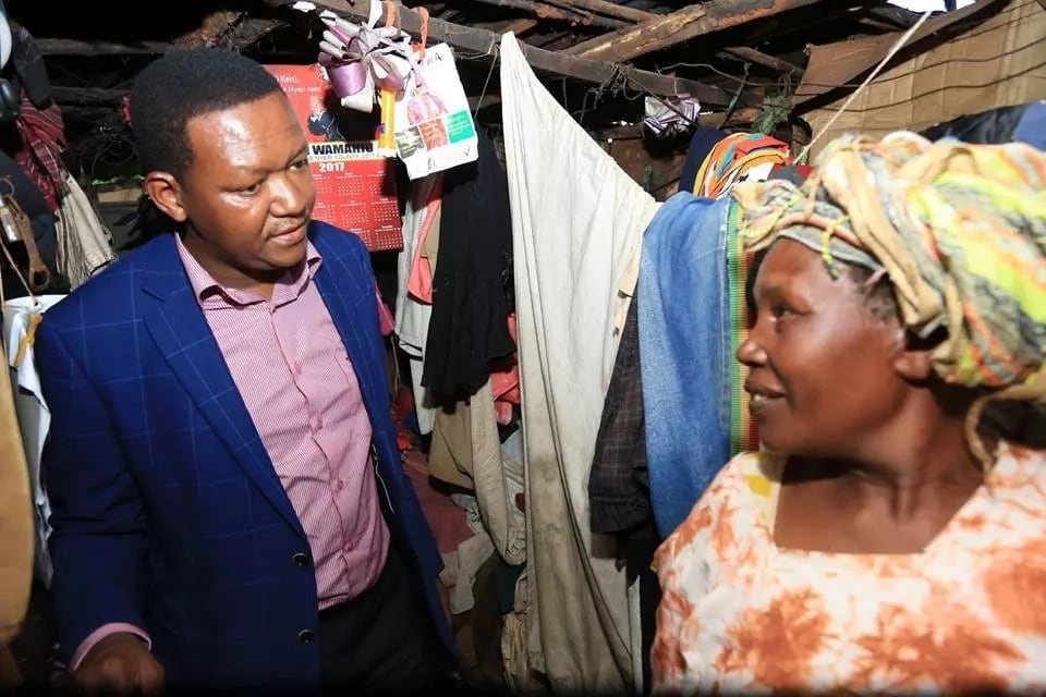 Alfred Mutua comes face to face with abject poverty in Nyeri