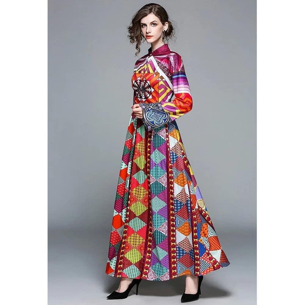 Kitenge maxi dresses for slim ladies