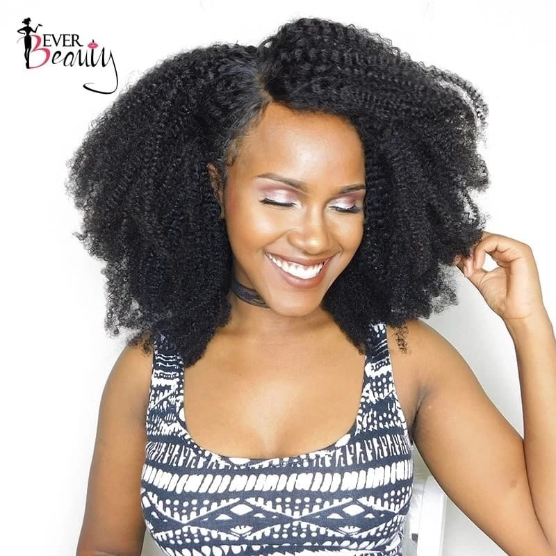 Afro kinky hairstyle