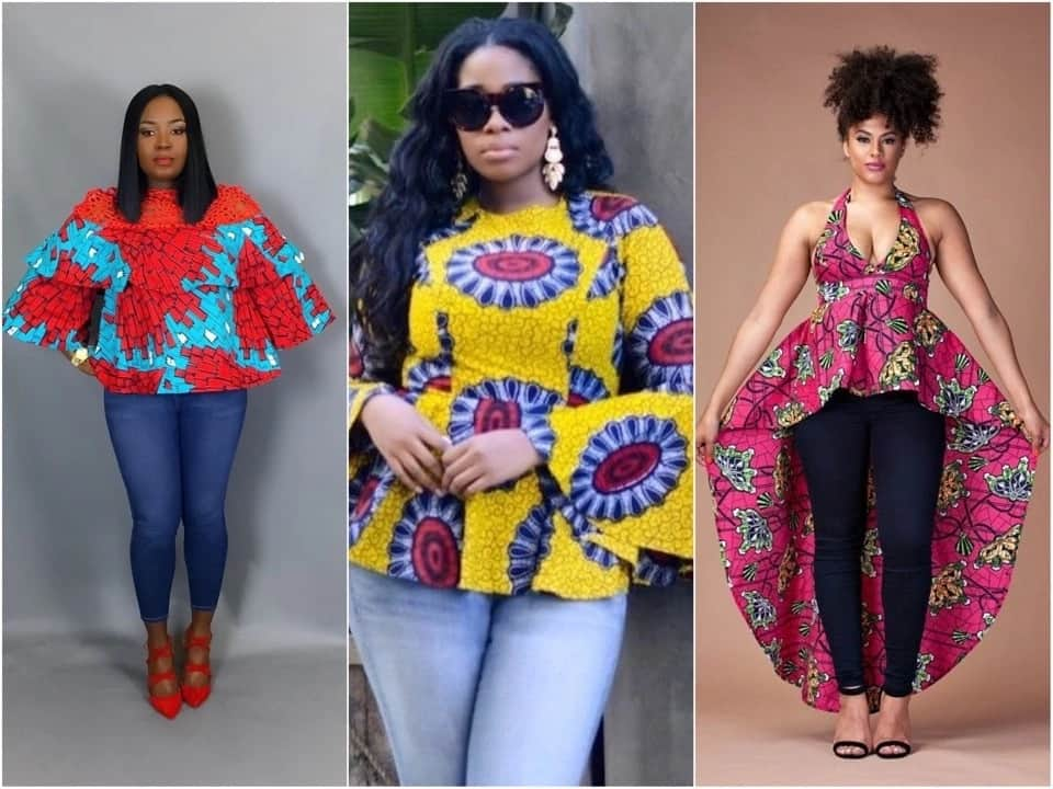 Kitenge top and blouse designs for ladies