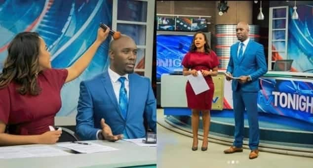TV anchor Olive Burrows over the moon after co host Dennis Okari gifts her lovely painting of herself