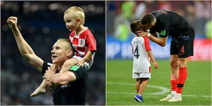 19 adorable photos of children of Croatian team playing, celebrating after victory against England
