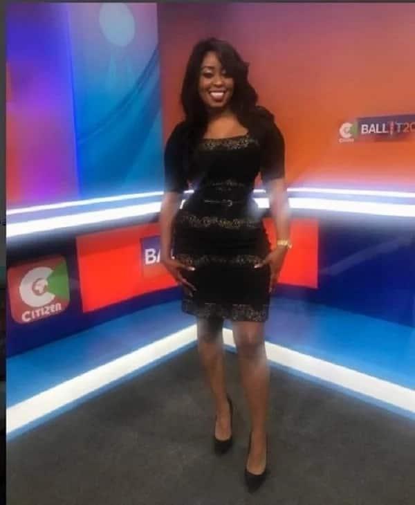 Mzee ni wewe! Citizen TVs screen siren flaunts her wasp-waistline and its lovely