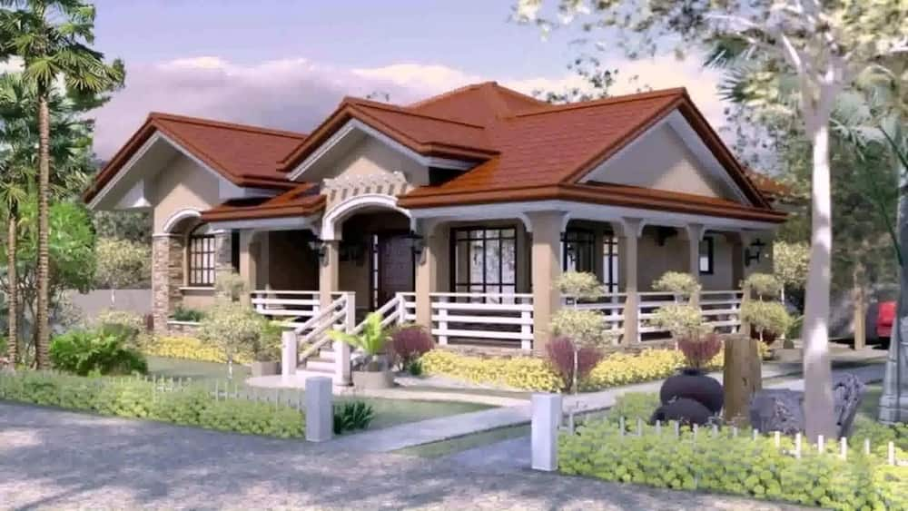 Three Bedroom Bungalow House Plans In Kenya Tuko Co Ke,2 Chandelier Over Dining Table