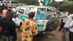 2 die on the spot after ambulance, lorry collide head on at a Kitui bridge